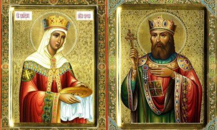 Равноапостольные царь Константин (†337) и матерь его царица Елена (†327)