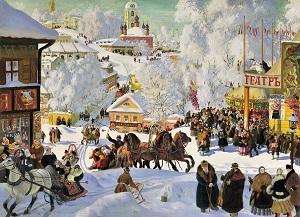 Борис Кустодиев. Масленица. 1919 г.