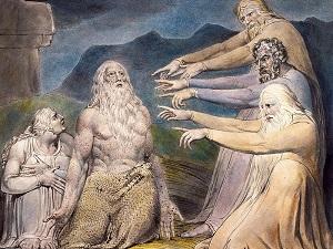 Друзья Иова порицают его. Иллюстрация У. Блейка