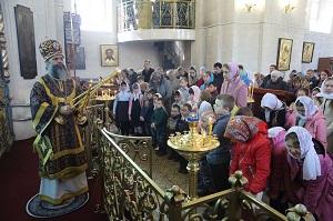Архиерейское богослужение в Воскресенском (старом) храме Вичуги