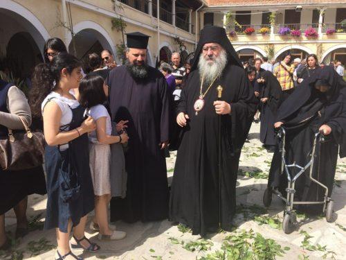 На престольном празднике в монастыре Св. Георгия Аламану