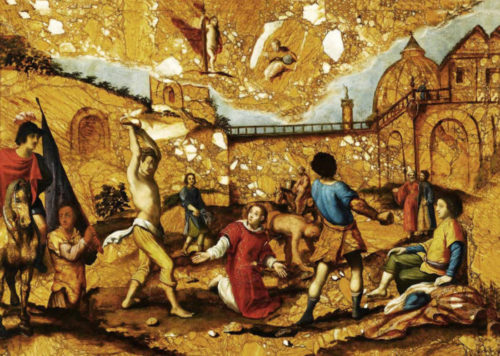 Побиение святого Стефана камнями. Антонио Темпеста, XVII век