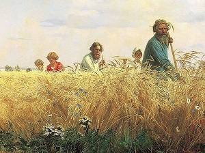 «Страдная пора. Косцы». Художник Григорий Мясоедов 1887г.