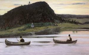Молчание. Художник: Михаил Нестеров, 1903 г.