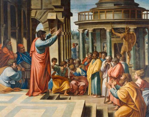 Апостол Павел в Афинах. Рафаэль, 1515