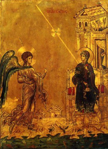Благовещение. 1262-1270гг.; Италия. Сиена; XIII в.; мастер: Гвидо да Сиена (итал. Guido da Siena).