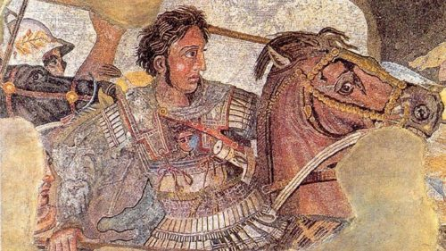 Битва при Иссе. Филоксен из Эретрии. ок. 100 до н. э. Мозаика