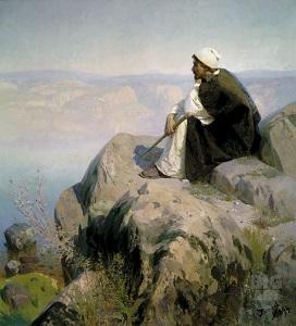 Мечты (На горе). Василий Поленов