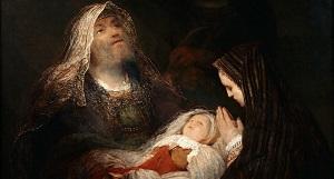 фрагмент картины Молитва Симеона (1700 г.), Арт де Гельдер (1645-1727)